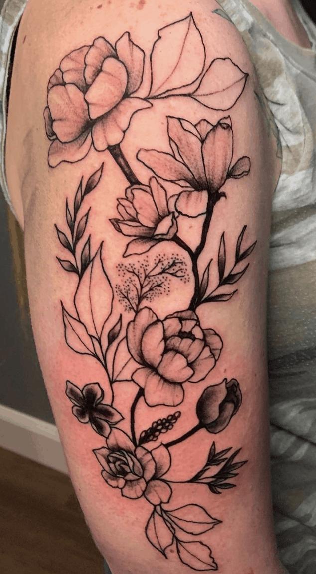 Floral tattoo omaha